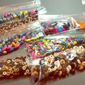Other - Lot C  wood multi shape beads for jewelry making